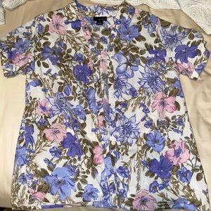 Hawaiian Floral print button up shirt